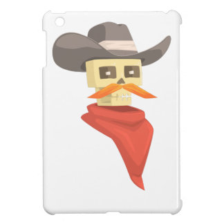 Dead Sheriff Head And Star Pin Drawing Isolated On iPad Mini Cover