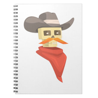 Dead Sheriff Head And Star Pin Drawing Isolated On Notebook