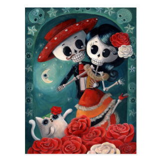Dead Skeleton Mexican Lovers