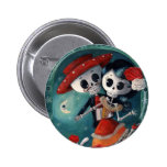 Dead Skeleton Mexican Lovers Pinback Buttons