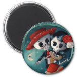 Dead Skeleton Mexican Lovers Refrigerator Magnets