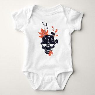 dead skull and bear baby bodysuit