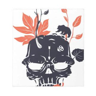 dead skull and bear notepad
