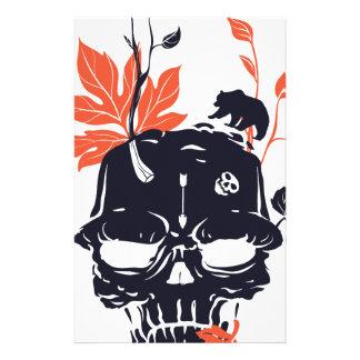 dead skull and bear stationery