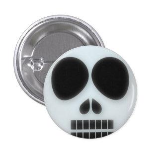 Dead skull halloween button