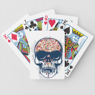 dead skull zombie colored design bicycle playing cards