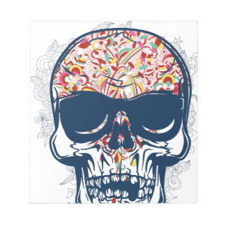dead skull zombie colored design notepads