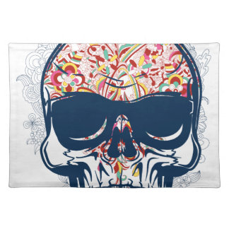 dead skull zombie colored design placemat