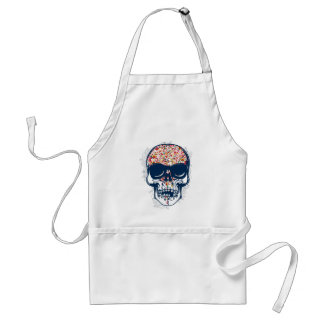 dead skull zombie colored design standard apron