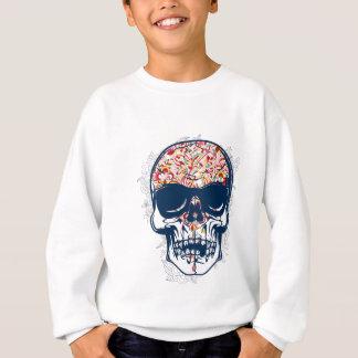 dead skull zombie colored design sweatshirt