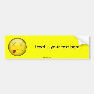 Dead Smiley Bumper Sticker