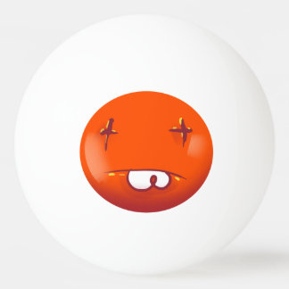dead smiley face funny cartoon ping pong ball