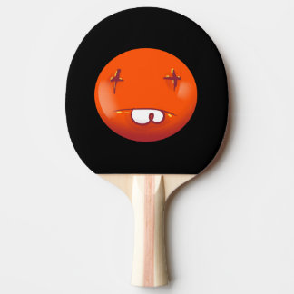 dead smiley face funny cartoon ping pong paddle