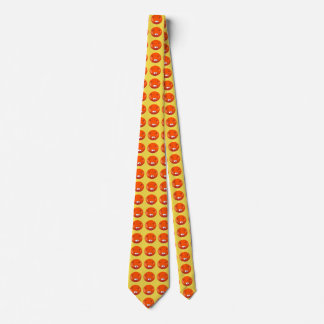 dead smiley face funny cartoon tie