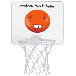 dead smiley face funny handdrawn cartoon mini basketball hoop