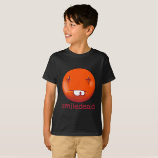 dead smiley face funny handdrawn cartoon T-Shirt