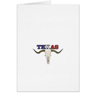 dead texas longhorn card
