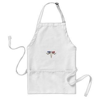 dead texas longhorn standard apron