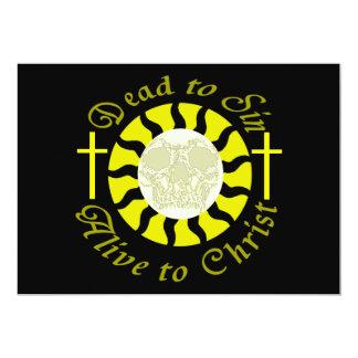 Dead to Sin - Alive to Christ 13 Cm X 18 Cm Invitation Card