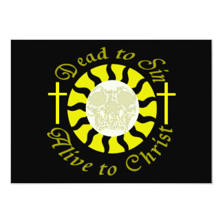 Dead to Sin - Alive to Christ 13 Cm X 18 Cm Invitation Card