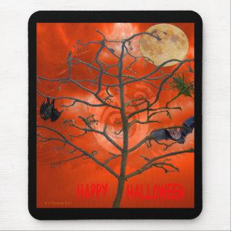 Dead Tree amongst an Orange Scary Sky Mousepad