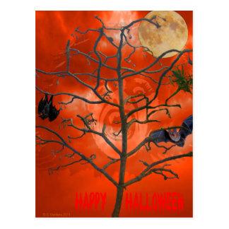 Dead Tree amongst an Orange Scary Sky Postcard