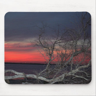 Dead Tree Sunset Mouse Pad
