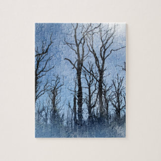 Dead Trees in Blue Jigsaw Puzzle