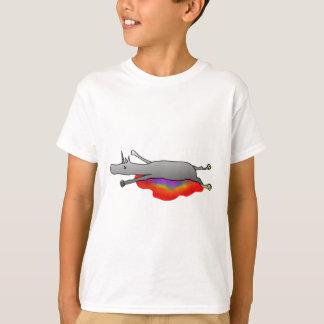 dead unicorn with rainbow blood T-Shirt