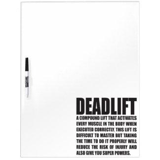 Deadlift - Funny Workout Motivational Dry Erase Board