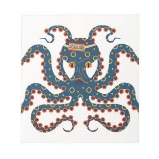 Deadline octopus notepad