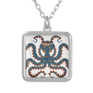 Deadline octopus silver plated necklace
