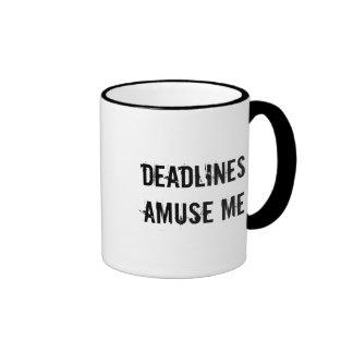 Deadlines AMUSE ME Ringer Mug