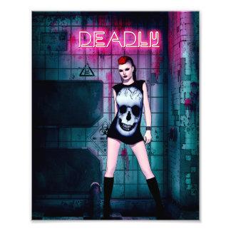 Deadly Gothic Girl Photograph