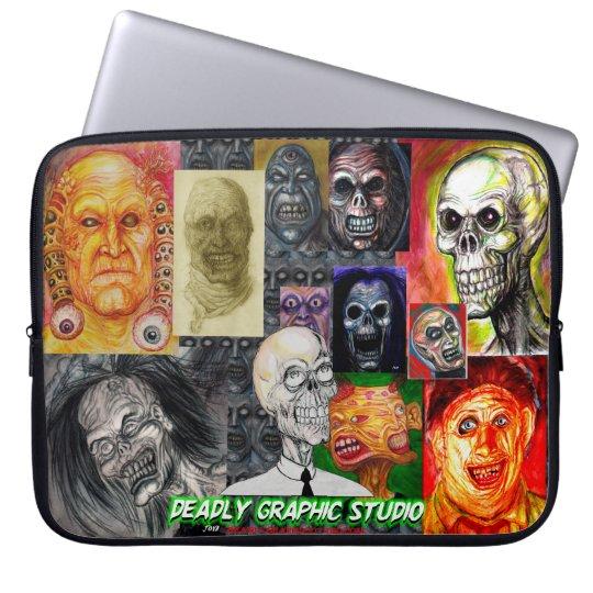 DEADLY GRAPHIC ART ELECTRONICS LAPTOP BAG