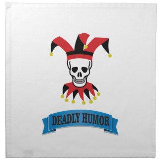 deadly humor joker napkin