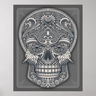 Deadly Love Skull Poster