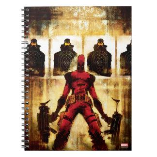 Deadpool Firing Range Spiral Note Books