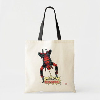 Deadpool Hanging From Harness Budget Tote Bag