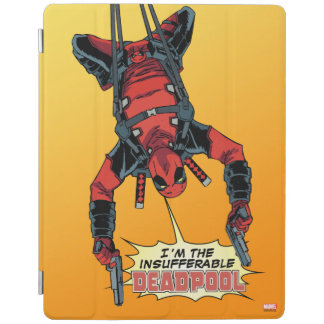Deadpool Hanging From Harness iPad Cover