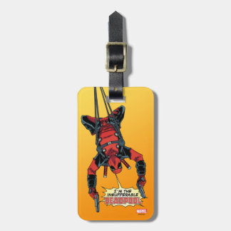 Deadpool Hanging From Harness Luggage Tag