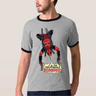 Deadpool Hanging From Harness T-Shirt