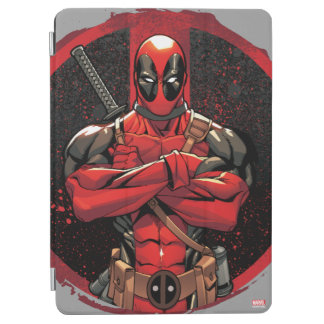 Deadpool in Paint Splatter Logo iPad Air Cover