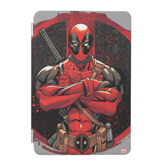 Deadpool in Paint Splatter Logo iPad Mini Cover