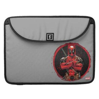 Deadpool in Paint Splatter Logo Sleeve For MacBooks