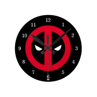 Deadpool Logo Round Clock