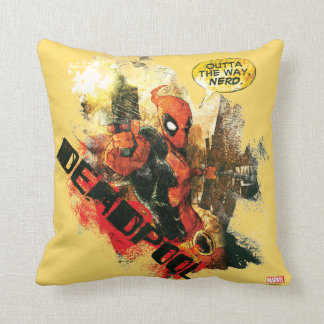 Deadpool Outta The Way Nerd Cushion