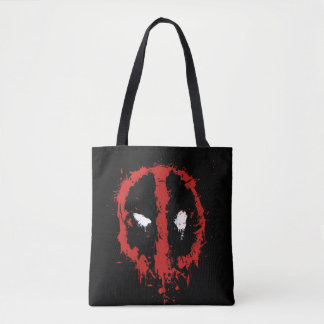 Deadpool Paint Splatter Logo Tote Bag