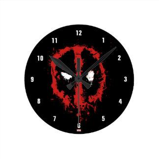 Deadpool Paint Splatter Logo Wall Clocks