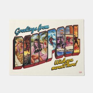 Deadpool Vacation Postcard Doormat
